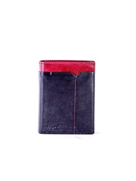 Czarno-bordowy portfel dla mężczyzny z ozdobnym wykończeniem                              zdj.                              1