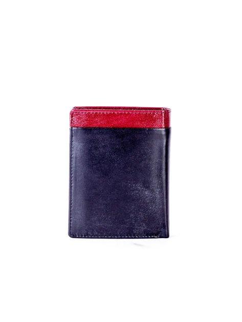 Czarno-bordowy portfel dla mężczyzny z ozdobnym wykończeniem                              zdj.                              2