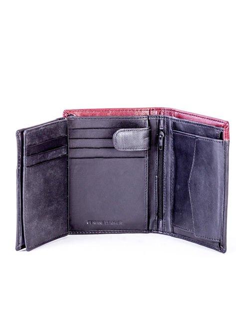 Czarno-bordowy portfel dla mężczyzny z ozdobnym wykończeniem                              zdj.                              6