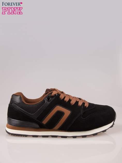 Czarno-brązowe buty sportowe damskie