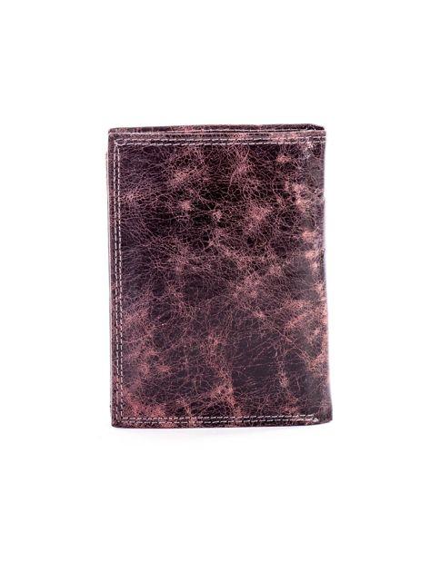 Czarno-brązowy cieniowany portfel dla mężczyzny ze skóry                              zdj.                              2