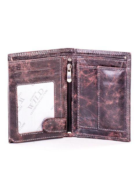 Czarno-brązowy cieniowany portfel dla mężczyzny ze skóry                              zdj.                              4