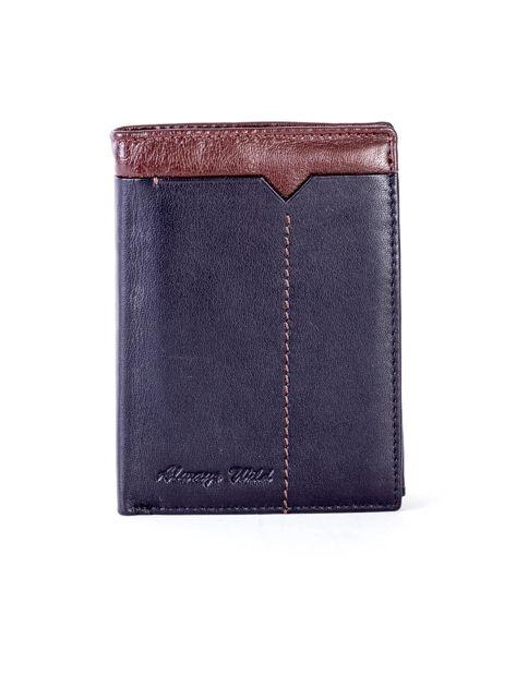 Czarno-brązowy portfel męski ze skóry                              zdj.                              1