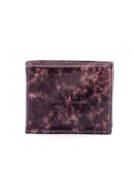 Czarno-brązowy skórzany portfel dla mężczyzny                              zdj.                              1