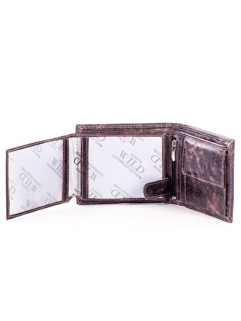 Czarno-brązowy skórzany portfel dla mężczyzny                              zdj.                              5