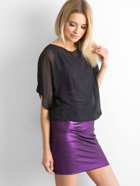Czarno-fioletowa sukienka damska                              zdj.                              3
