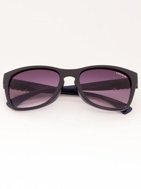 Czarno-granatowe Damskie Okulary Przeciwsłoneczne