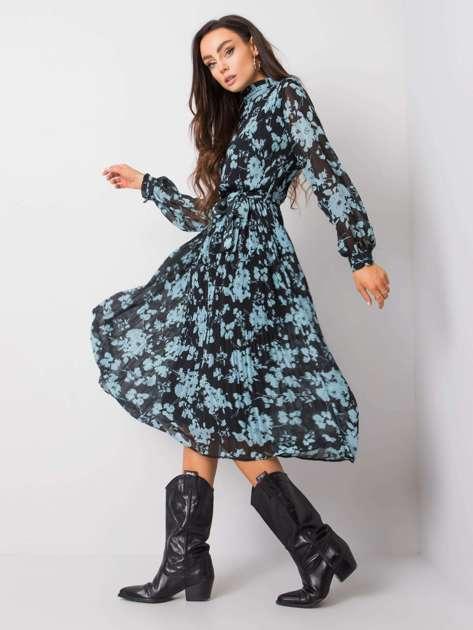 Czarno-niebieska sukienka Perla RUE PARIS