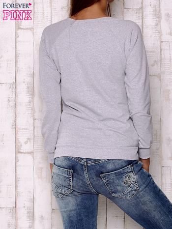 Czarno-szara bluza z nadrukiem pand                                  zdj.                                  2