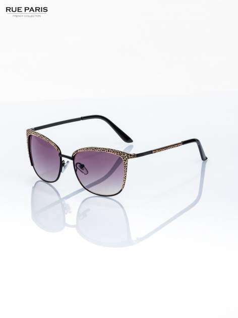 Czarno-złote KLASYCZNE okulary przeciwsłoneczne                                   zdj.                                  2