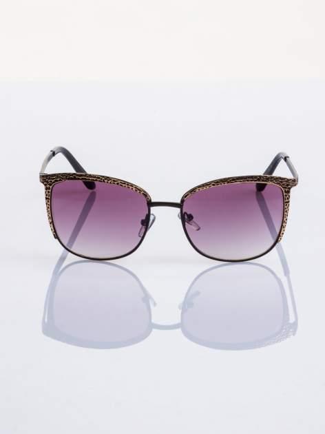 Czarno-złote KLASYCZNE okulary przeciwsłoneczne                                   zdj.                                  1