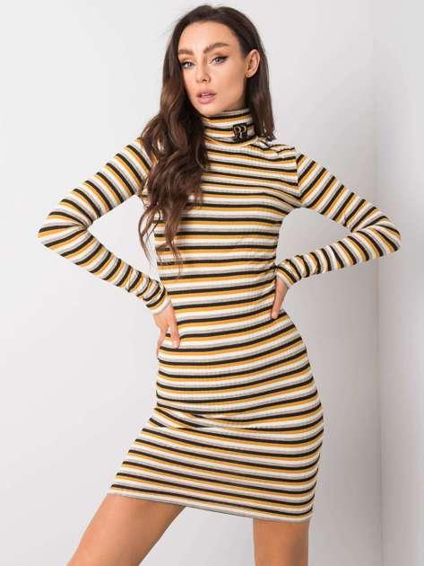 Czarno-żółta sukienka Luna RUE PARIS