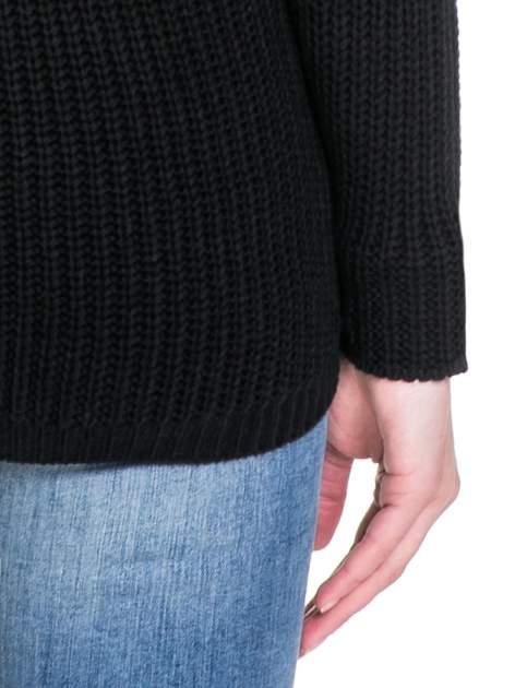 Czarny ciepły sweter z golfowym kołnierzem                                  zdj.                                  8