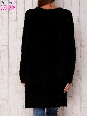 Czarny długi włochaty sweter                                   zdj.                                  4