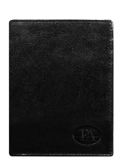 Czarny klasyczny portfel męski ze skóry