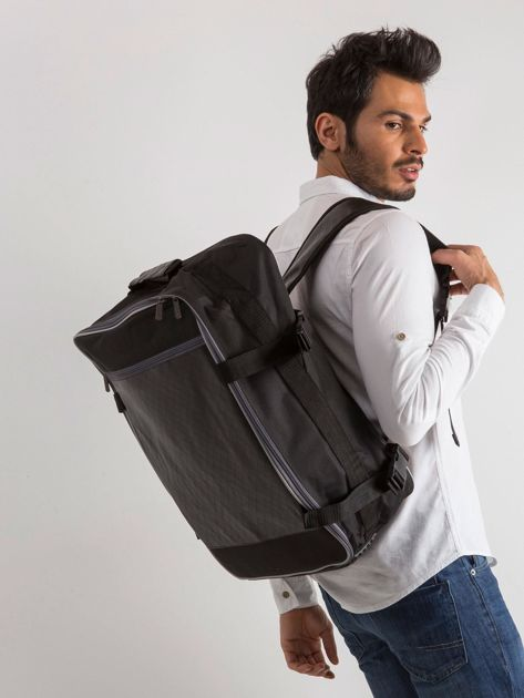 Czarny męski plecak podróżny                              zdj.                              3