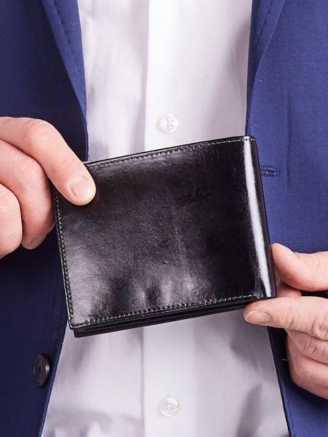 Czarny męski portfel poziomy                              zdj.                              6