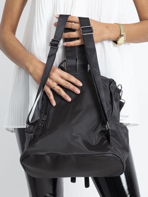 Czarny miękki plecak torba                               zdj.                              3