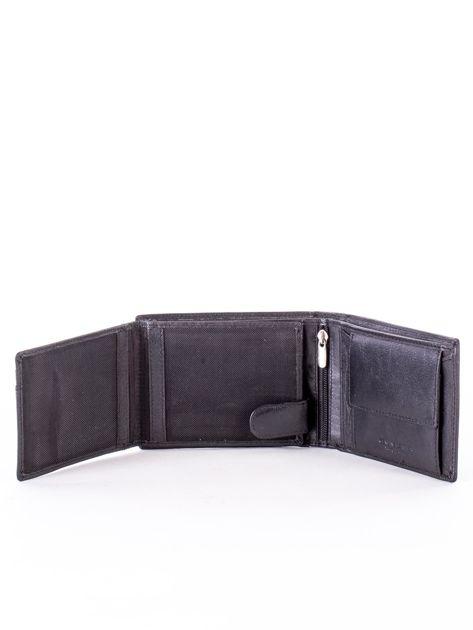 Czarny miękki portfel ze skóry naturalnej dla mężczyzny                              zdj.                              5
