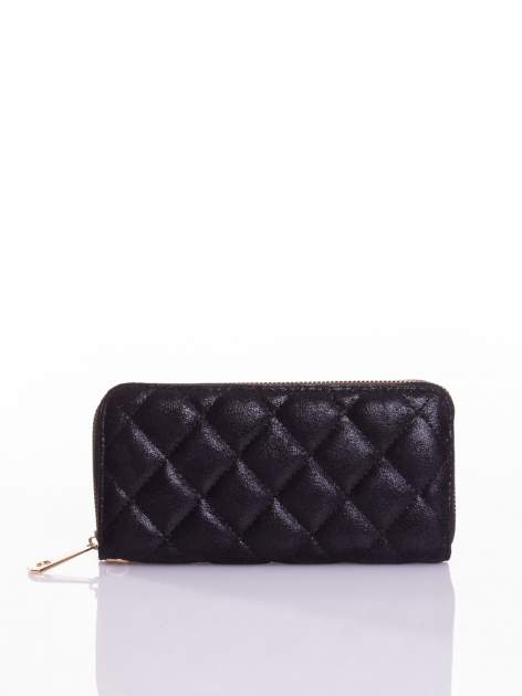 Czarny pikowany portfel                                  zdj.                                  1