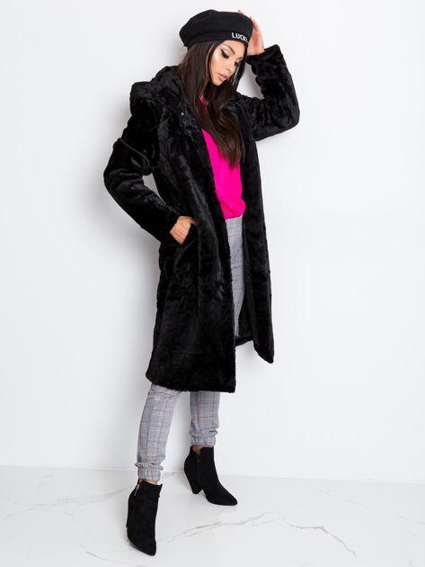 Czarny płaszcz Mallory                              zdj.                              3