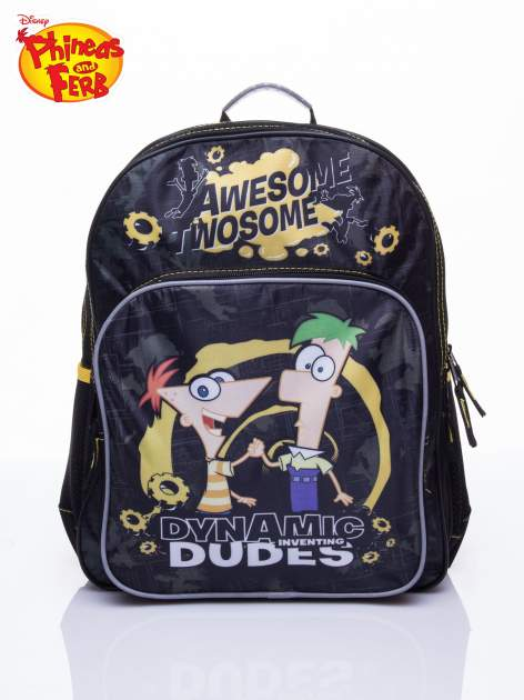 Czarny plecak szkolny DISNEY Fineasz i Ferb                                  zdj.                                  1