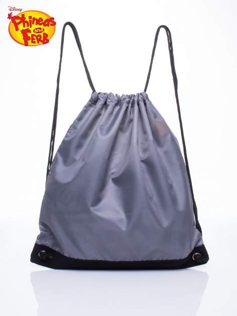 Czarny plecak worek DISNEY Fineasz i Ferb                                  zdj.                                  2