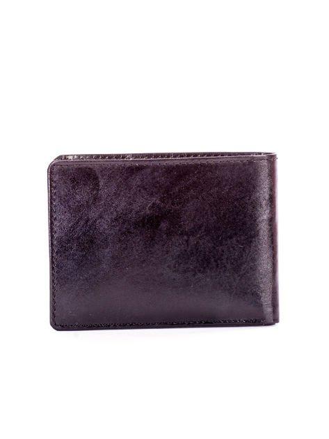 Czarny portfel dla mężczyzny z tłocznym napisem                              zdj.                              2