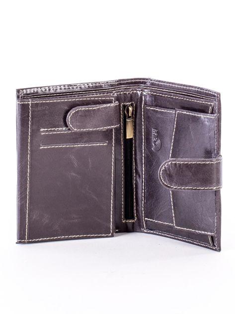 Czarny portfel dla mężczyzny z zapięciem na zatrzask                              zdj.                              4
