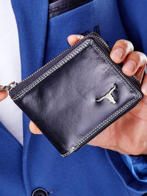 Czarny portfel męski na suwak                              zdj.                              8