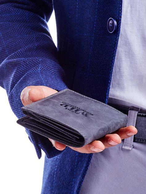 Czarny portfel męski przecierany