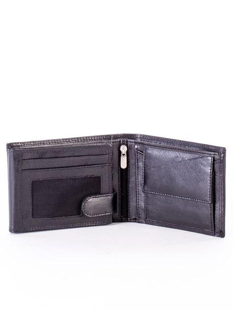 Czarny portfel męski z przetarciami                              zdj.                              4
