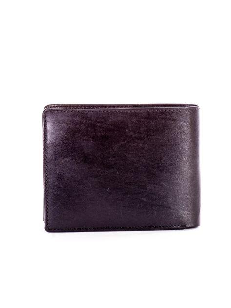 Czarny portfel męski ze skóry z tłoczeniem                              zdj.                              2