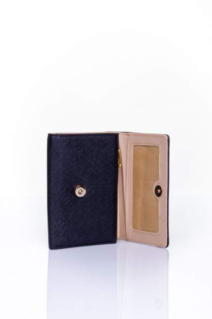 Czarny portfel z kokardką                                  zdj.                                  4