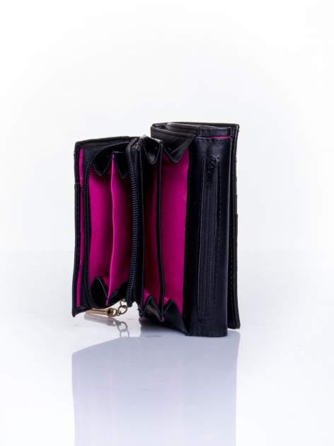 Czarny portfel z ozdobnym zapięciem                                  zdj.                                  5