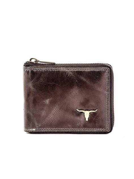 Czarny portfel ze skóry naturalnej z cieniowaniami                              zdj.                              1