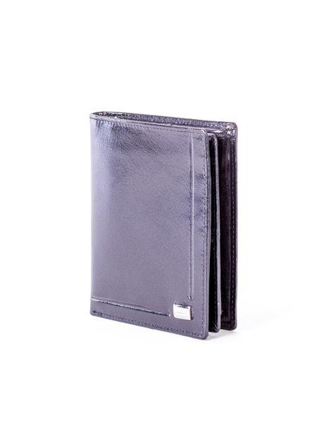 Czarny portfel ze skóry naturalnej z tłoczeniem                              zdj.                              3
