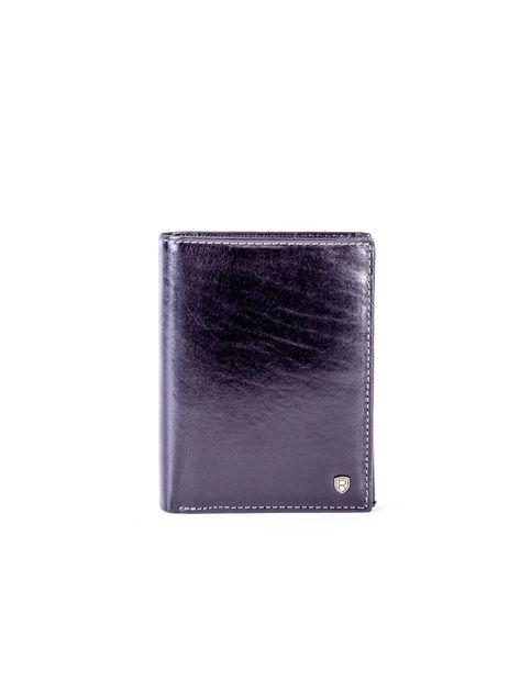 Czarny skórzany portfel                               zdj.                              1