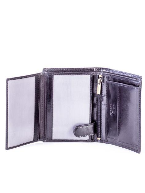 Czarny skórzany portfel                               zdj.                              5