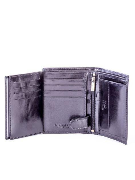 Czarny skórzany portfel                               zdj.                              6