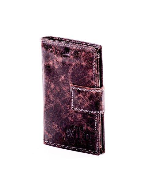 Czarny skórzany portfel dla mężczyzny z zapięciem                              zdj.                              3