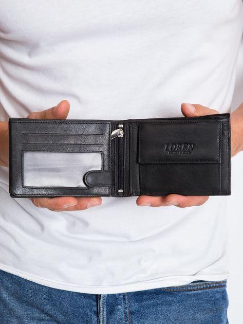 Czarny skórzany portfel męski                               zdj.                              4