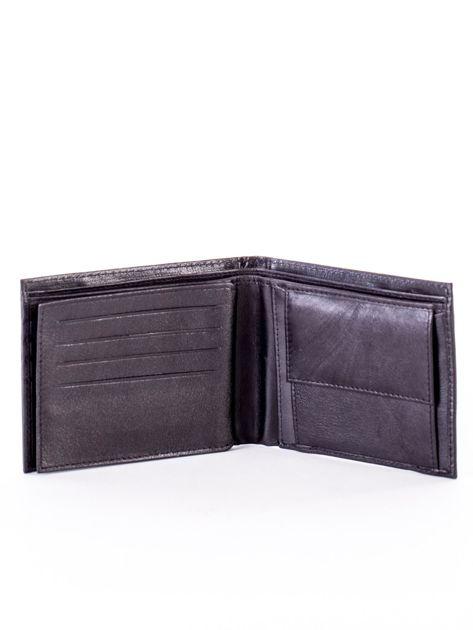 Czarny skórzany portfel męski z eleganckim niebieskim obszyciem                              zdj.                              5