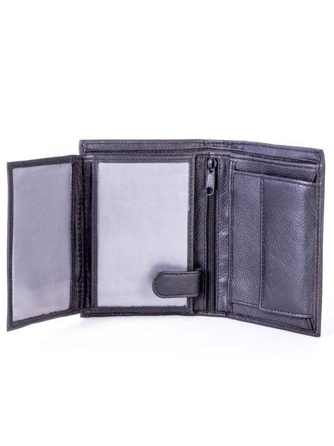Czarny skórzany portfel z czerwonym wykończeniem                              zdj.                              5