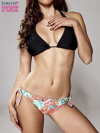 Czarny stanik od bikini z koronką wiązany na szyi                                  zdj.                                  2