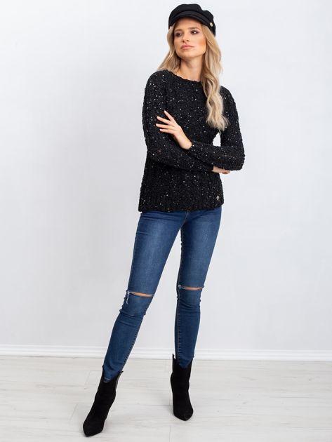 Czarny sweter Attractive                              zdj.                              4