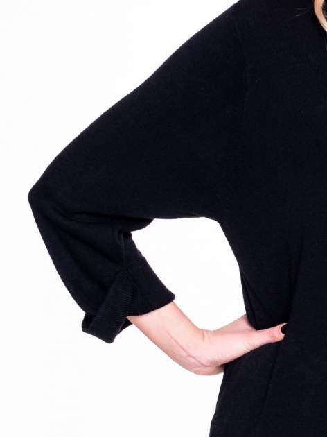 Czarny sweter długi kardigan z kieszeniami                                  zdj.                                  5