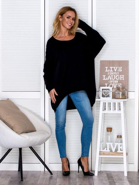 Czarny sweter oversize                                   zdj.                                  4
