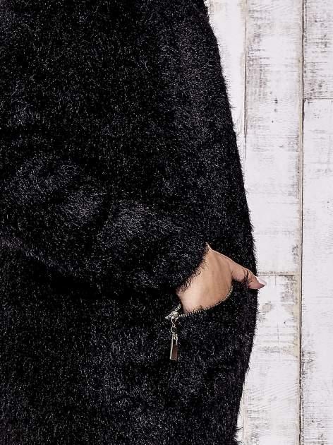 Czarny sweter ze złotymi suwakami                                  zdj.                                  6