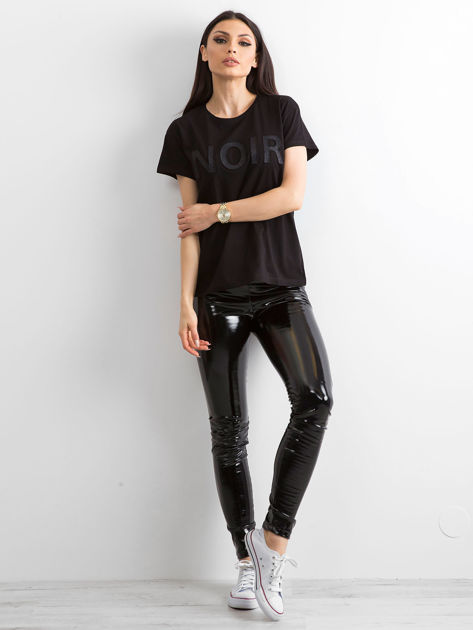 Czarny t-shirt NOIR                              zdj.                              1